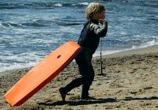 男孩冲浪者 库存照片