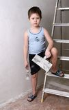 男孩刀子调色板 免版税图库摄影