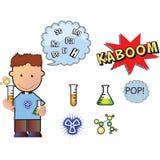 男孩化学制品 库存例证
