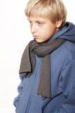男孩十一生气年 免版税库存照片