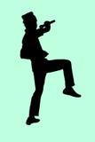 男孩卡拉OK演唱 免版税库存图片