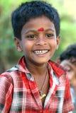 男孩印地安人笑 库存照片