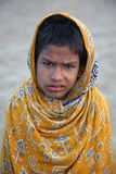 男孩印地安人纵向 图库摄影