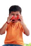 男孩印地安人 免版税库存图片