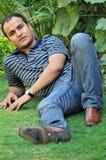 男孩印地安人 免版税库存照片