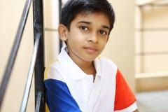 男孩印第安小的纵向 免版税库存图片