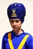 男孩印第安锡克教徒 库存图片