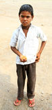 男孩印第安贫寒 图库摄影