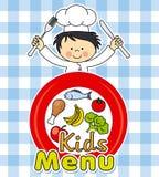 男孩厨师 免版税库存图片