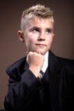男孩发型 免版税库存照片