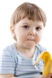 男孩吃图象 免版税图库摄影