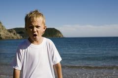 男孩呼喊 免版税库存照片