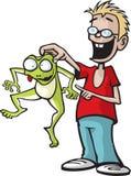 男孩和他的青蛙 免版税库存图片
