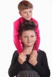 男孩和女孩被拥抱 库存照片