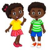 男孩和女孩从海地 库存例证