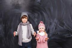 男孩和女孩 库存图片