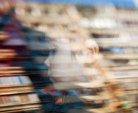 男孩和抽象反映 免版税库存照片