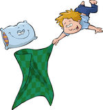 男孩和毯子 免版税库存照片