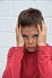 男孩哀伤的少年 免版税库存图片