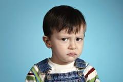 男孩哀伤的视域重点 免版税库存图片