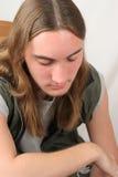 男孩哀伤青少年 免版税图库摄影