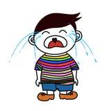 男孩哭泣 免版税库存照片