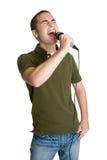 男孩唱歌青少年 免版税库存图片