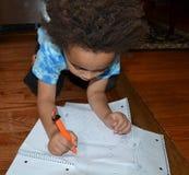 男孩图画一点 免版税库存照片