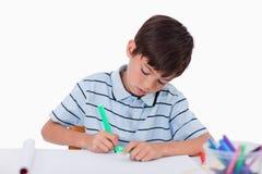 年轻男孩图画 免版税库存图片