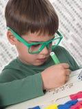 年轻男孩图画 免版税库存照片