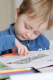 年轻男孩图画 库存图片