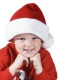 男孩圣诞老人 图库摄影