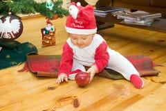 男孩圣诞节 库存照片