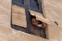 男孩在也门 图库摄影