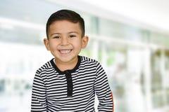 年轻男孩在学校 图库摄影