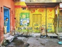 男孩在阿格拉,印度 免版税库存图片