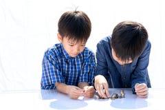 男孩大厦硬币塔 免版税图库摄影