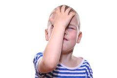 男孩失败 免版税库存图片