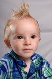 男孩头发尖小孩 免版税图库摄影