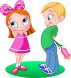 男孩女孩 免版税库存图片