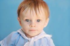 男孩婴儿水手 库存图片