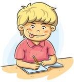 男孩学习 免版税库存照片