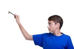 男孩学员 免版税库存图片