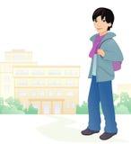 男孩学生 免版税库存照片