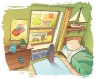 年轻男孩室 库存照片