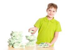 男孩富有的年轻人 免版税库存图片