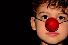 男孩小丑 图库摄影