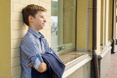 男孩少年的画象13-14岁 库存图片