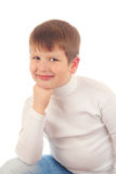 男孩少许纵向 免版税库存照片