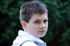 男孩少年年轻人 免版税库存照片